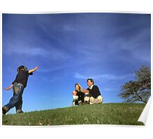 Young family in park, Sunday afternoon Poster