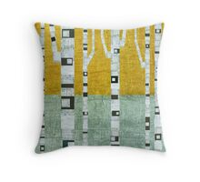 Early Winter Birches Throw Pillow