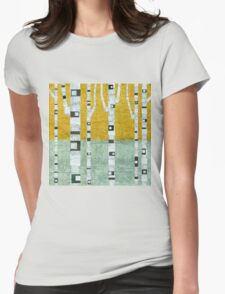 Early Winter Birches Womens Fitted T-Shirt