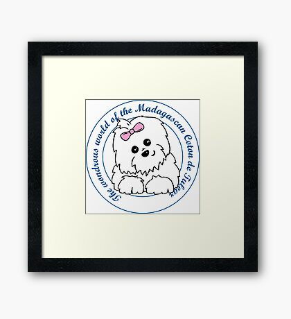 Life circle Coton de Tulear - The wondrous world of the Coton de Tulear Framed Print