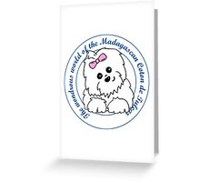 Life circle Coton de Tulear - The wondrous world of the Coton de Tulear Greeting Card