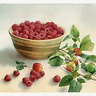 Stillife with raspberries by Sergei Kurbatov