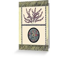 Oriental Flare in Green Greeting Card
