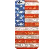 American Flag with States iPhone Case/Skin