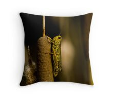 Solitary Locust Throw Pillow