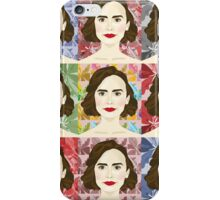Lily Collins x9 iPhone Case/Skin