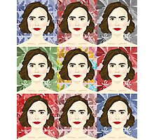 Lily Collins x9 Photographic Print