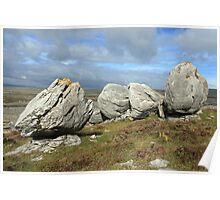 Burren Rocks Poster