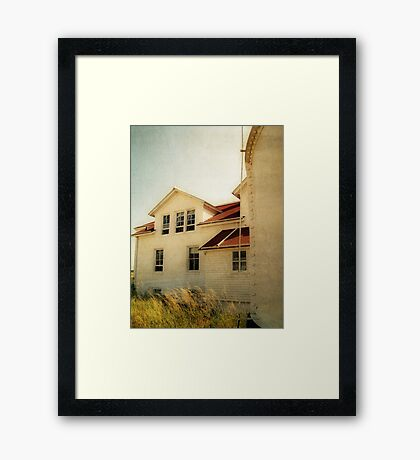 Lighthouse and Beach Grass Framed Print