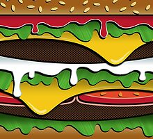 BURGER (Pillow/Tote) by Jessica Evans