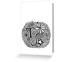 Taylor Swift Doodle Greeting Card