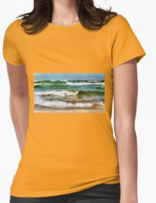 Waves Crash Womens Fitted T-Shirt