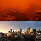 Red sand storm vs. normal by Jesper Høgsdal