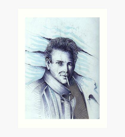 Mickey Rourke ( Pre-Plastic ) Art Print