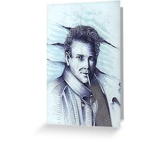 Mickey Rourke ( Pre-Plastic ) Greeting Card