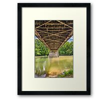 Beneath Potter's Covered Bridge Framed Print