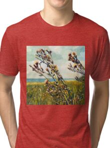 Thistle on the Beach Tri-blend T-Shirt