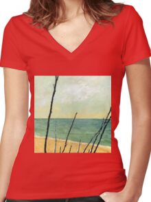 Branches on the Beach Women's Fitted V-Neck T-Shirt