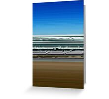 Sky Water Sand Greeting Card