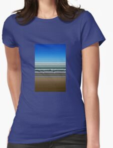 Sky Water Sand Womens Fitted T-Shirt