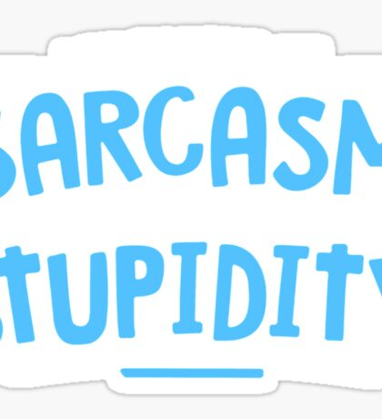 Degree Sarcasm Mens Womens Hoodie / T-Shirt Sticker