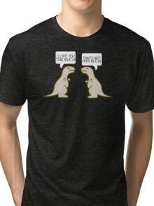 Dino Love Mens Womens Hoodie / T-Shirt Tri-blend T-Shirt