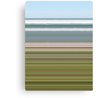 Sky Water Beach Grass Canvas Print