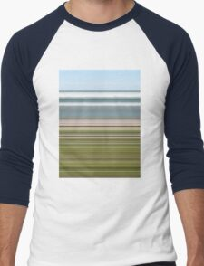 Sky Water Beach Grass Men's Baseball ¾ T-Shirt