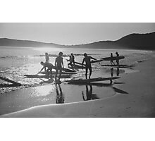 Early morning surfers Photographic Print