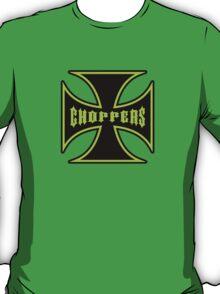 Chopper Maltese Cross Design Lime Green T-Shirt