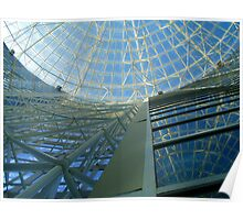 Butterfly Building Interior Upward View Poster