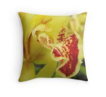Ruth's Garden - Cymbidium Orchid Throw Pillow