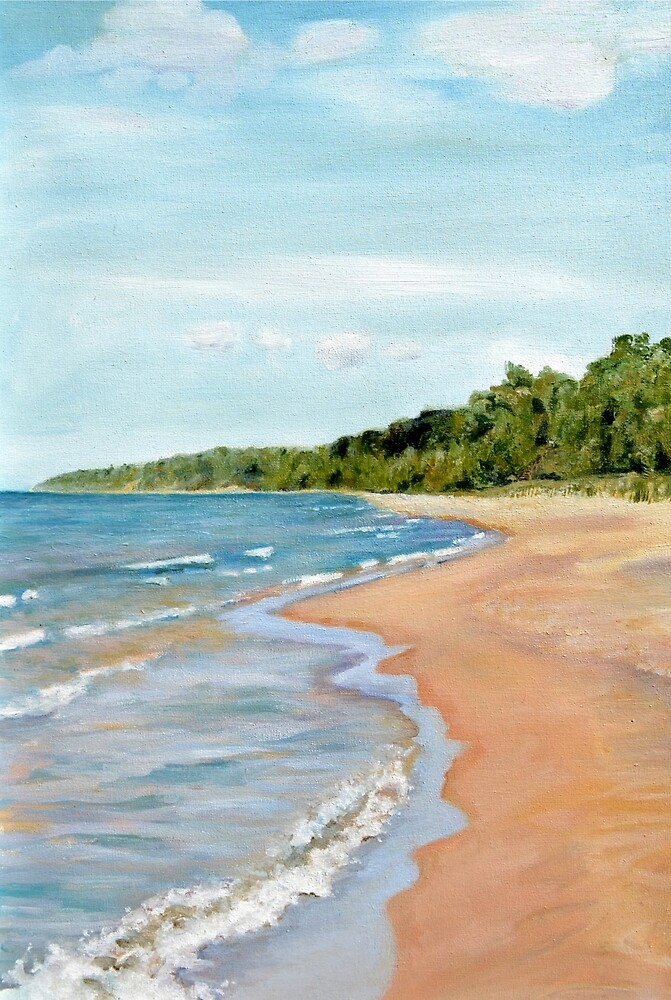 Peaceful Beach by Michelle Calkins