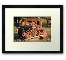Rusting in Peace in Texas Hill Country Framed Print