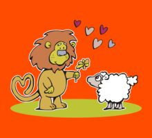And so the lion fell in love with the lamb Kids Tee
