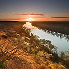 Sunset at Heading Cliffs by KathyT
