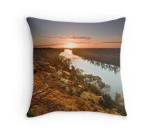 Sunset at Heading Cliffs Throw Pillow