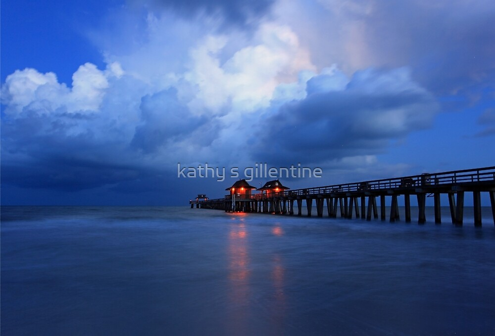 dawn at the pier by kathy s gillentine