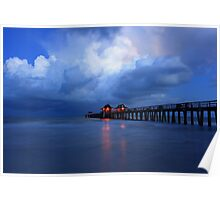 dawn at the pier Poster