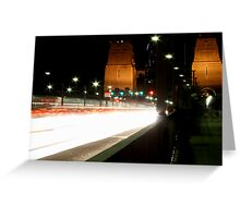 Plasma Fusion - Sydney Harbour Bridge, Australia Greeting Card