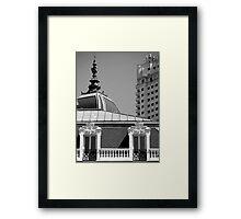 Madrid BW Framed Print