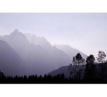 Silhouette, Austria Photographic Print