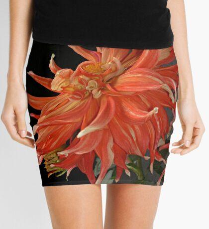 Giant Red Dahlia Mini Skirt