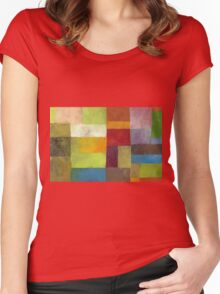 Abstract Color Panels lV Women's Fitted Scoop T-Shirt
