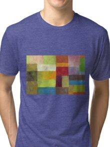 Abstract Color Panels lV Tri-blend T-Shirt