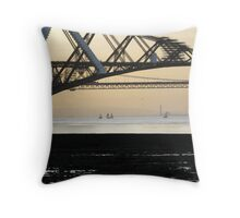 Forth Rail Bridge, South Queensferry Throw Pillow
