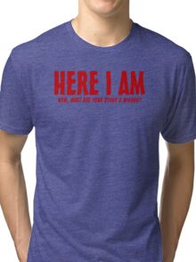 Here I Am Now What Are Your Other 2 Wishes Mens Womens Hoodie / T-Shirt Tri-blend T-Shirt