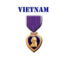 Purple Heart - Vietnam Photographic Print