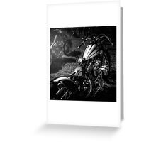 Classic Custom Motorcycles Greeting Card