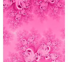 Soft Pink Frost of Morning Fractal Photographic Print